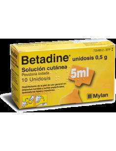 Betadine unidosis 500 mg...